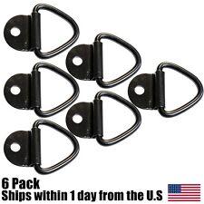 "(6) 1/4"" Steel D Ring Rope Chain Motorcycle Tie Down 2,400# Truck Trailer ATV"