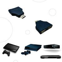 MINI SPLITTER HDMI 1 MACHO X 2 HEMBRA SIN CABLE DUPLICADOR DOS SALIDAS TV LADRON