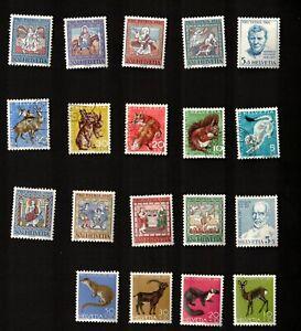 Switzerland 1966 Semi-Postal Stamps Sc# B355-B373