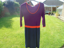 BODEN dress size 12 long knitted colourblock dress WE901