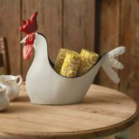 Rooster Container Farmhouse Holds Flowers Plants Towels Utensils