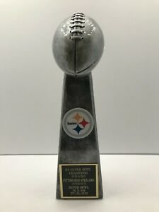 Pittsburgh Steelers 6X Super Bowl Champions Lombardi Style Trophy Terry Bradshaw