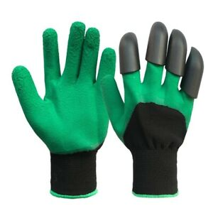 Gardening Digging Gloves Planting Pruning Tools Lawn Care 8 Claws Garden Genie