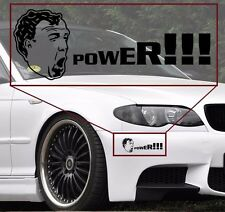 Jeremy Clarkson POWER vinyl decal sticker 8'' wide