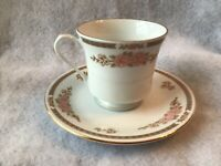"""Floral mist cup and saucer 4"""" cup good condition Fairfield yung shen"""