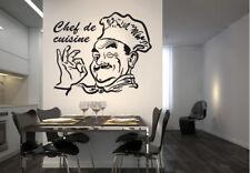 Wandtattoo Chef de Cuisine Wandbild Poster Wanddeko Wandaufkleber Wandsticker