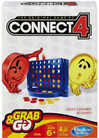 Connect 4 Grab and Go Game - Travel Game Size - Hasbro Family