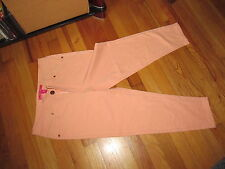 Women's Totally Pink Light Orange Cropped Pants Size M Very Good Condition