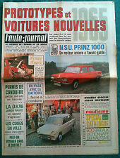 L'AUTO-JOURNAL n°366 du 12/1964; Essai NSU Prinz 1000/ Prototypes/ DKW Junior