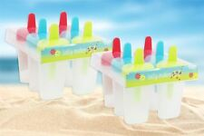 Mini Ice Lolly Mould Reusable Ice Cream Popsicle Makers Bright Makes 12 Lollies