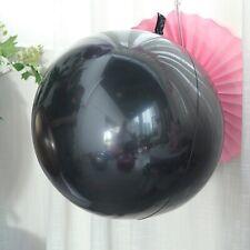 "2 Black 30"" wide Round Large Vinyl Balloons Birthday Wedding Party Decorations"
