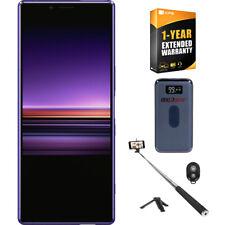 Sony Xperia 1 Unlocked Smartphone 128GB Purple + 1 Year Extended Warranty Bundle