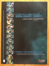The House of the Dead 2 Sega Dreamcast 1999 Poster Ad Art Print Promo Wii Rare