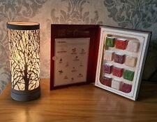 Aroma Lamp Wax Melt Burner Grey Matte Tree Touch Sensitive Christmas Gift Set