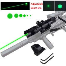 Adjustable Green Dot Laser Sight Flashlight Designator 20mm Rail Mount + Battery