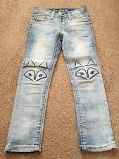 Girls Vigoss Stretch Skinny Blue Denim Jeans Adjustable Waist Girls 4 years age