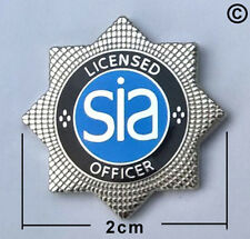 sia security officer lapel pin badge, close protection, door supervisor,