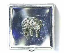 Bear Grizzly Brown Pill or Mint Tin Box Handbag Mirror Ladies Gift