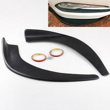 2PCS ABS Car Front Bumper Winglets Add-on Bottom Diffuser Splitter Canard Lips