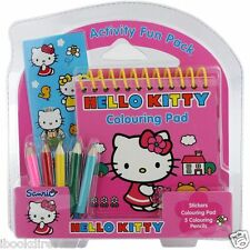 HELLO Kitty: attività Fun Pack: PARTY BAG / Regalo / Viaggio / Compleanno / WH5 NUOVO