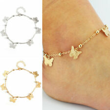 Chain Bracelet Anklets Jewelry Gift Women Butterfly Silver Gold Plated Anklet