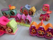 Littlest Pet Shop Lot of 2 Random Triplet House Accessories and 6 Petriplet Pets