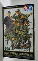 Tamiya 1/48 WWII German Infantry Plastic Figure Set 32512 TAM32512