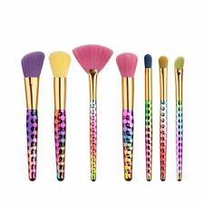 7pcs Pro Unicorn Face Eyeliner Brush Cosmetic Make Up Flat Brushes Sets Kit