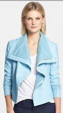 Auth NWT. Veda 'Max' Leather Jacket Size Medium $898. TURQUOISE