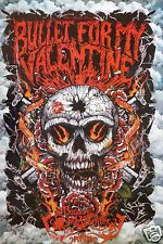 """BULLET FOR MY VALENTINE """"SKULL WITH BULLET HOLE"""" ASIAN POSTER -Heavy Metal Music"""