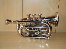 NUOVO di zecca ARGENTO BB Tasca trumpet+free rigido CASE+M / P