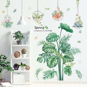 Monstera Deliciosa Wall Sticker Tropical Leaf Decal DIY Mural Home Decoration
