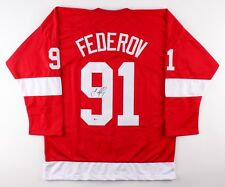 Sergei Fedorov Signed Red Wings Jersey (Beckett COA) Playing career 1986–2012
