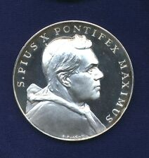 VATICAN   1963  POPE PIUS X  PROOF SILVER MEDAL, 40MM, GEM PROOF!