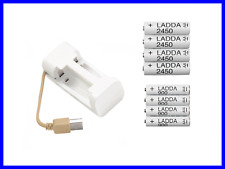 Set 4pcs AA and 4pcs AAA Rechargeable Batteries + Universal USB Charger AA AAA