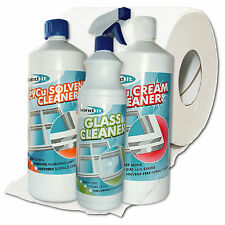 CLEANING BUNDLE CLEANERS PVC UPVC PVCu  WINDOWS DOORS & CONSERVATORY 1ltr