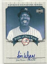 2003 Upper Deck Yankees Signature Series Jimmy Wynn Auto On Card # PN-JW