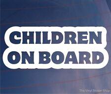 Les enfants à bord nouveauté vinyle voiture / fourgonnette / Pare-chocs / fenêtre parents autocollant / autocollant