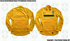 Soccer Brazil National Team 11/12 NIKE Authentic Long Sleeve Jersey(L)