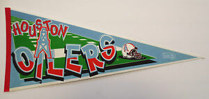 HOUSTON OILERS VINTAGE 1995 FULL SIZE FOOTBALL PENNANT NFL COLLECTABLE PRO SHOP