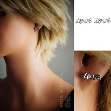 Boucles d'oreilles LOVE Argent 925°°° et ZIRCONIAS -1409010- BEAUX BIJOUX