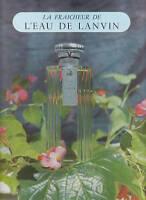Publicité ancienne parfum l'eau de Lanvin 1953 issue de magazine