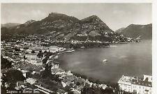 SWITZERLAND - LUGANO E MONTE BRE.  RP Postcard Posted in 1934  (1400)