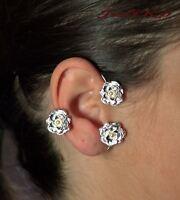 JoliKo Ohrklemme Ear Piercing Ear cuff Elfen Fee Elben Rockabilly Vintage LINKS