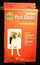 PetSafe Bh Medium Indoor/Outdoor Pet Door ~ White #B2-Mw-17 ( Up to 40 Lbs )New