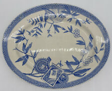 Wedgwood & Co Antique 12� Serving Platter England Louise Bird Blue White Flawed