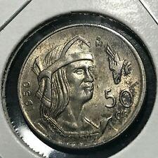 1950 MEXICO SILVER 50 CENTAVOS HIGH GRADE COIN