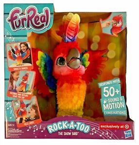 Hasbro FurReal Rock-A-Too Cockatoo Parrot Singing Dancing Show Bird