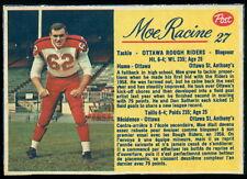 1963 POST FOOTBALL CFL #27 MOE RACINE NM OTTAWA ROUGH RIDERS Card