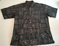 Tori Richard Honolulu Mens XL Button Up Short Sleeve Shirt 100% Cotton Lawn